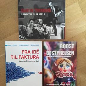 Bøger om iværksætteri. Sælges enkeltvis eller samlet. Byd, så finder vi en pris. Martin Thorborg er helt ny og kan fint bruges som julegave ;)