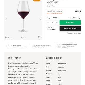 6 stk. Holmegaard Cabernet vinglas ubrugte Sælges for 300,- PRISEN ER FAST😊 Jeg sender gerne på købers regning 50,- 8200 Aarhus N