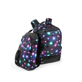 Jeva Supreme skoletaske. Mangler den sorte dut til at stramme snoren foran på tasken.