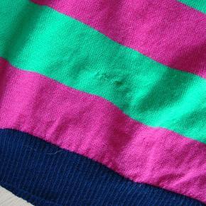 Varetype: Danefæ strik bluse i 100 % merino uld str. S Farve: Se foto  Danefæ strik bluse i 100 % merino uld str. M men sv. mere til str. S. Brugt få gange men sat under GMB pga. lille rep. Se foto.  Byd!