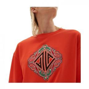 Lækker sweatshirt fra Lala Berlin, orangerød. brugt 4 gange er flot som NY.Købspris 1299.- handler mobilepay 639.- og sender med DAO