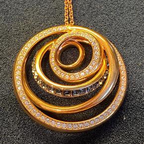 Swarovski halskæde, kun brugt få gange, ny pris 1200 kr