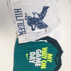 To fine trøjer fra Tommy Hilfiger og Nike Ser 104-110 45kr pr stk - begge for 80kr