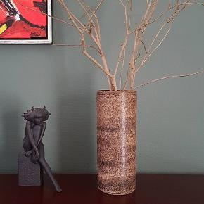 Flot stor keramik vase. Ingen skår. H 36 cm  ♻️😘👌