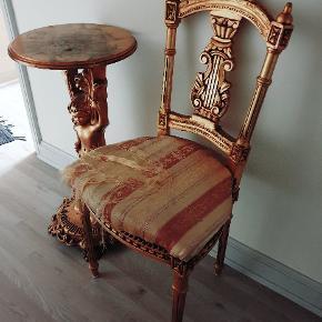 Ældre antik guld sæt (stol-bord)guldblad  spejl købt senere . Sælges samlet 3500 kr  !! Ny Pris 2450 kr !! Byd !