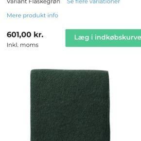 Flaskegrøn uldplaid Klippan, Gotland købt i Magasin