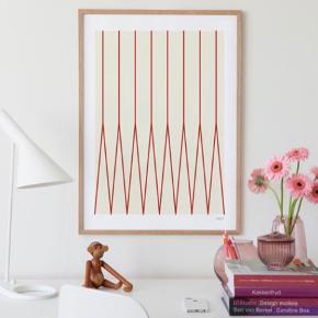 Eva Harlou Limited art print med sort ramme i 50x70.