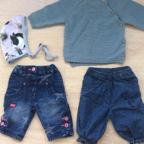 Str. 56-68 mrk. Molo, claire. Det er kun molo bukserne der er brugt, resten er nyt. Sælges samlet for fast pris kun 50 kr. Sender ikke.
