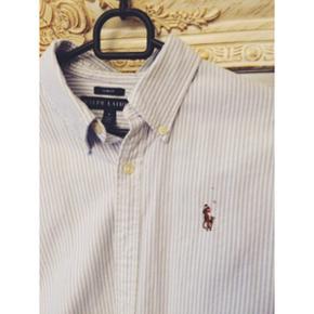 Ralph Lauren slim fit skjorte size 8 (medium) blå og hvid stribet Aldrig brugt