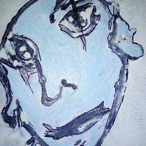 Dejligt maleri med ramme uden glas ER SOLGT  Str. 40 x 50 cm T.By.Art Se mine andre malerier i mine andre annoncer