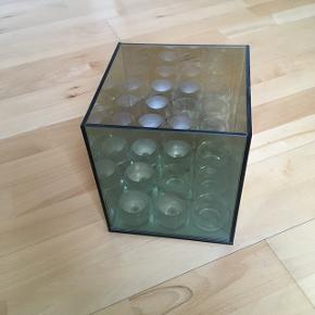 Lyshus i glas, til 9 fyrfadslys