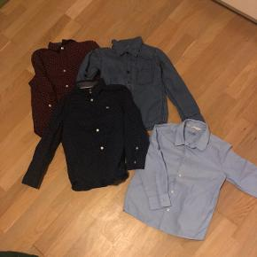 4 skjorter str. 116 Som nye  Bytter ikke  30 kr pr. Stk eller alle 4 for 80 kr