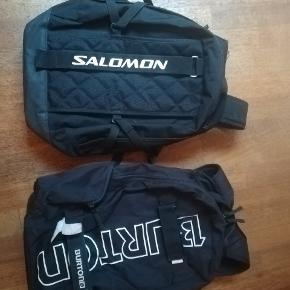 Burton & Salomon rygsække sælges samlet til 100,-Begge rygsække bærer præg af brug men generelt ganske fine med flere år i sig endnu. Kan bruges til både skole og sport brug. Befinder sig i Aalborg