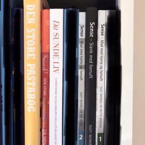 Blandede bøger - de fleste aldrig læst, så i pæn stand. Enkelte bøger gmb. BYD 6700/Rørkjær