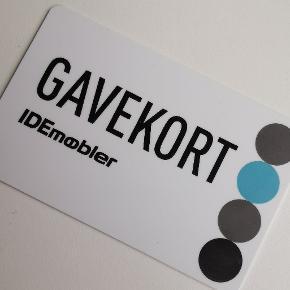 Gavekort på 1750 kr Kan bruges i både ILVA & IDEmøbler.