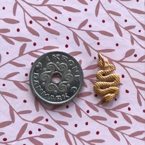 Lille forgyldt slange vedhæng Rigtig fin Stemplet 925