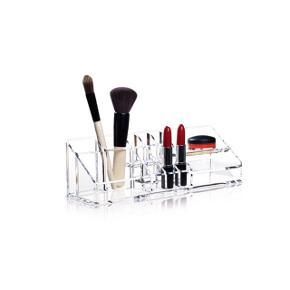 NOMESS Clear make-uporganizer Clear Makeup Organizer er super praktisk til at opbevare din makeup i. Den har flere små og større rum.  Mål: 30 x 9 x 9 cm Helt ny i kassen
