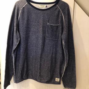 """Sweatshirt fra """"Originals by Jack & Jones"""". - Mørkeblå str. XL  Byd :-)"""