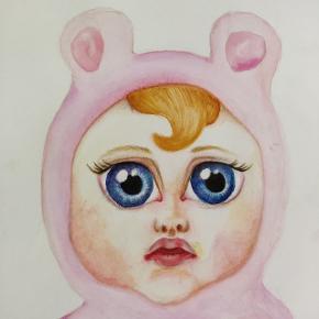 Perfekt maleri til børneværelset Format A3 Sendes med DAO Pris eksl. Fragt