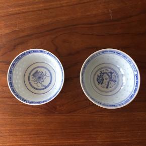 Kinesiske skåle.  Prisen er pr stk