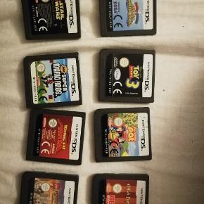 Nintendo DSI spil, køb alle for 200 eller 30 kr pr. styk. Skriv evt. Hvis du ønsker nogle af spillene så, kan vi finde ud af en pris☺️