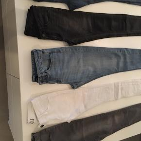 5par jeans  Just female Xs Rip hvid Xs Vero moda 34 Pieces Xs Only s34