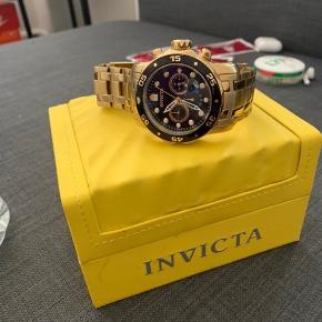 Invicta diver guld ur 48MM ( Meget stort ur ) Nypris 1.000
