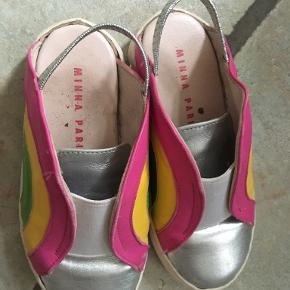 Minna Parikka silver rainbow slingbacks for a girl. Used as indoor shoes for 3 months. Size 25. Cool and cute :) 100% genuine and post fee paid by me.