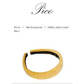 "Skøn velour hårbøjle fra Pico i farven ""Dijon"" (varm gul) kun prøvet på. Nypris 100kr"