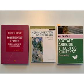 Jeg sælger disse bøger: * Kommunikation og samarbejde i professionelle relationer, 3. udgave, 2013  * Kommunikation i praksis, 1. udgave, 2012  * Socialt arbejde i teori og kontekst, 1. udgave, 2013