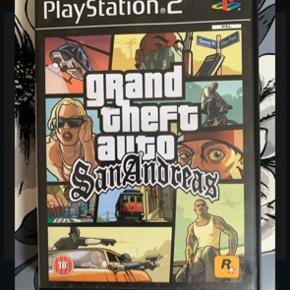 Playstation 2 spil. Grand theft auto San Andreas Brugt, men fint