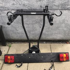 THULE cykelholder til 3 cykler. Inkl. Lygtebum og ladybike stang.