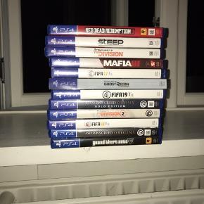 Sælger følgende PS4 spil, ingen af CD'erne har skader og virker alle!   Giv mig et bud på det/de spil du ønsker 😊