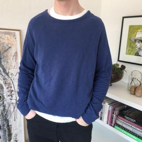 Samsøe Samsøe langærmet trøje i blå! Str. L :) byd! Kan både bruges til mænd og kvinder