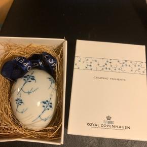 Royal æg i original æske med rede og bånd ::et samler objekt :  Decor 2  (1249 277)  Sender + Porto 37 kr