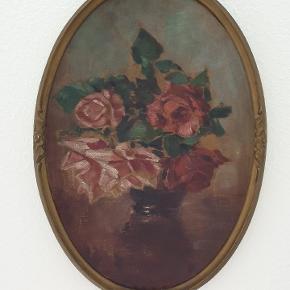 Fineste antikke blomster oliemaleri. Er kun til afhentning på Nørrebro. Måler 49 x 35