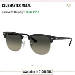 Ray-Ban Clubmaster i metal. Købt i Malaga som gave. Sælges da den modtagende kom mig i forkøbet. Nypris ses på billedet :-)