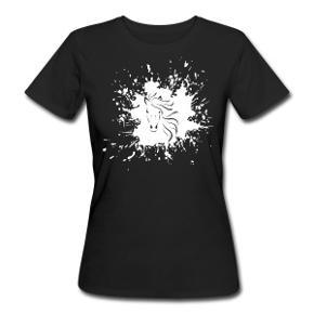 Organic T-shirt med unikt hestemotiv fra spreadshirt.   Økologisk T-shirt til damer  casual T-shirt passer til tidens kombi med vide bukser eller nederdel; den er cool og dejlig - og ovenikøbet 100 % økologisk. Kropsnært, let taljeret snit Vid rund halsudskæring Lidt længere end normalt, så den ikke rutsjer op af bukser eller nederdel Blødt, tætsiddende materiale: 155 g/m² 100% bomuld (økologisk)   Længde i cm: 66 Bredde i cm: 50,5 Ærmelængde i cm: 17  Der står L i T-shirten men den er meget lille i det, derfor passer den en str. small og lille medium.
