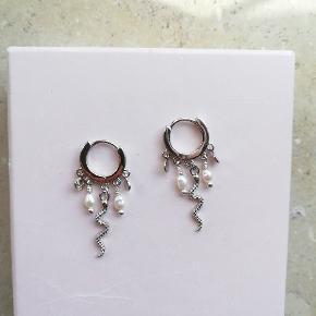 Smykke creoler i sølv med forskellige vedhæng🌸