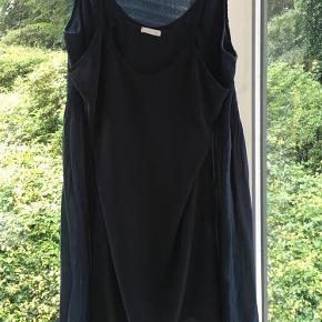 Varetype: Kjole Farve: Mørkeblå Oprindelig købspris: 1600 kr.  Smuk sommerkjole med underkjole.