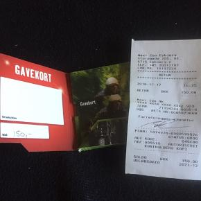 Gave kort til maxi zoo på 150 kr.