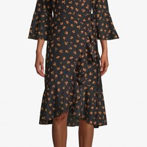 Cotton and silk wrap dress.