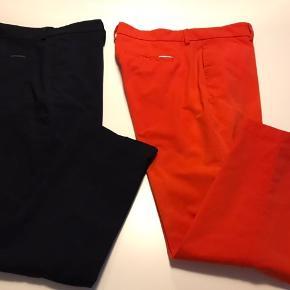 Mac bukser, marineblå og orangerød, 7/8 lange cigaret model. Supergod pasform (desværre for små til mig). Pris pr par 300 pp