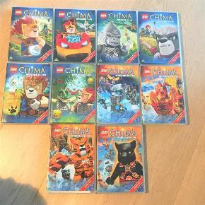 Varetype: 10 Lego Chima dvd tegnefilm, 41 afsnit i altStørrelse: dvd Farve: Ja Oprindelig købspris: 500 kr.  Alle 10 dvd tegnefilm sælges samlet for 175,-