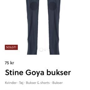 Stina Goya for weekday   Til frkrosengreen  Større hul i bukser ved knæ Retur