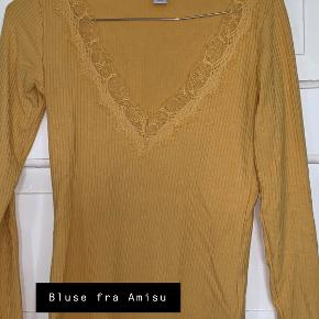 Utrolig sød bluse fra Amisu i en lækker karry-gul farve. Brugt meget få gange.