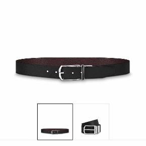 Reversible Louis Vuitton belt, Slender 35 mm, black/dark brown colour. New, never used. Adjustable length, maximum 110cm