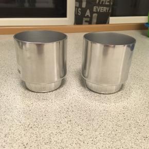Sølv / metal urtepotter fra H&m - helt nye med prismærke