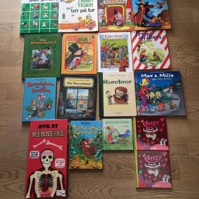 Sælger en masse børnebøger. Priser fra 10-50kr.  Nogen af bøgerne er næsten som nye, mens andre er brugte men fine. Kommer fra et ikke ryger hjem. Kan afhentes i 2990 Nivå eller sendes mod betaling. Priserne kan ses på billederne