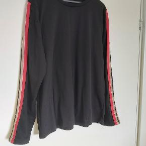 Flot trøje. Materiale tag mangler, men jeg gætter på det er polyester og elastan, og muligvis noget mere.